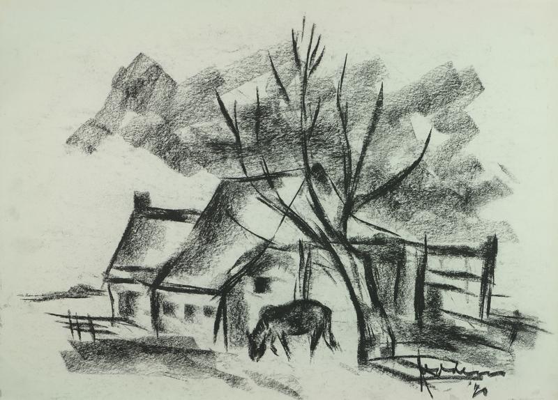 Boerderij met paard, 1970