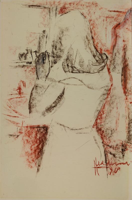 Vrouw met spiegel, 1978
