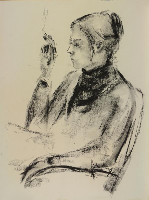 Rokende vrouw, 1972