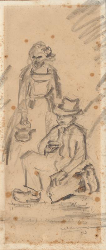 Vrouw en man in klederdracht