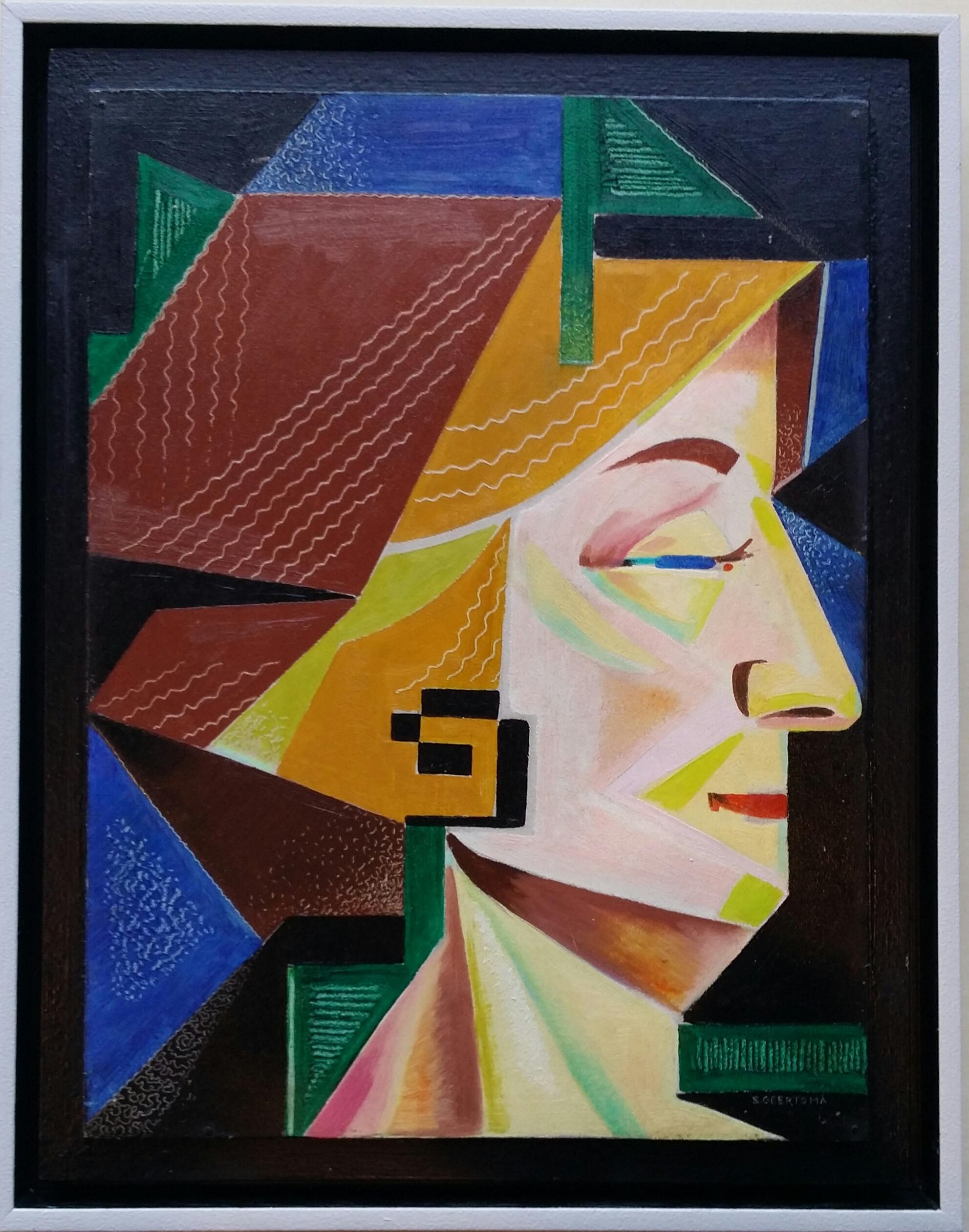 Kubistisch vrouwenportret