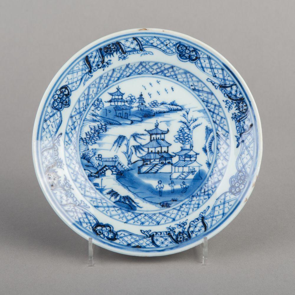 Chinees Qianlong bord met landschapdecor
