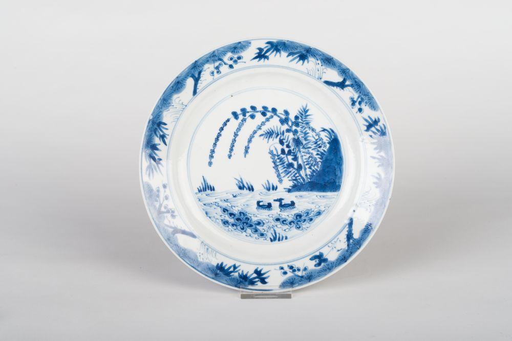 Chinees Kangxi bord met landschapdecor