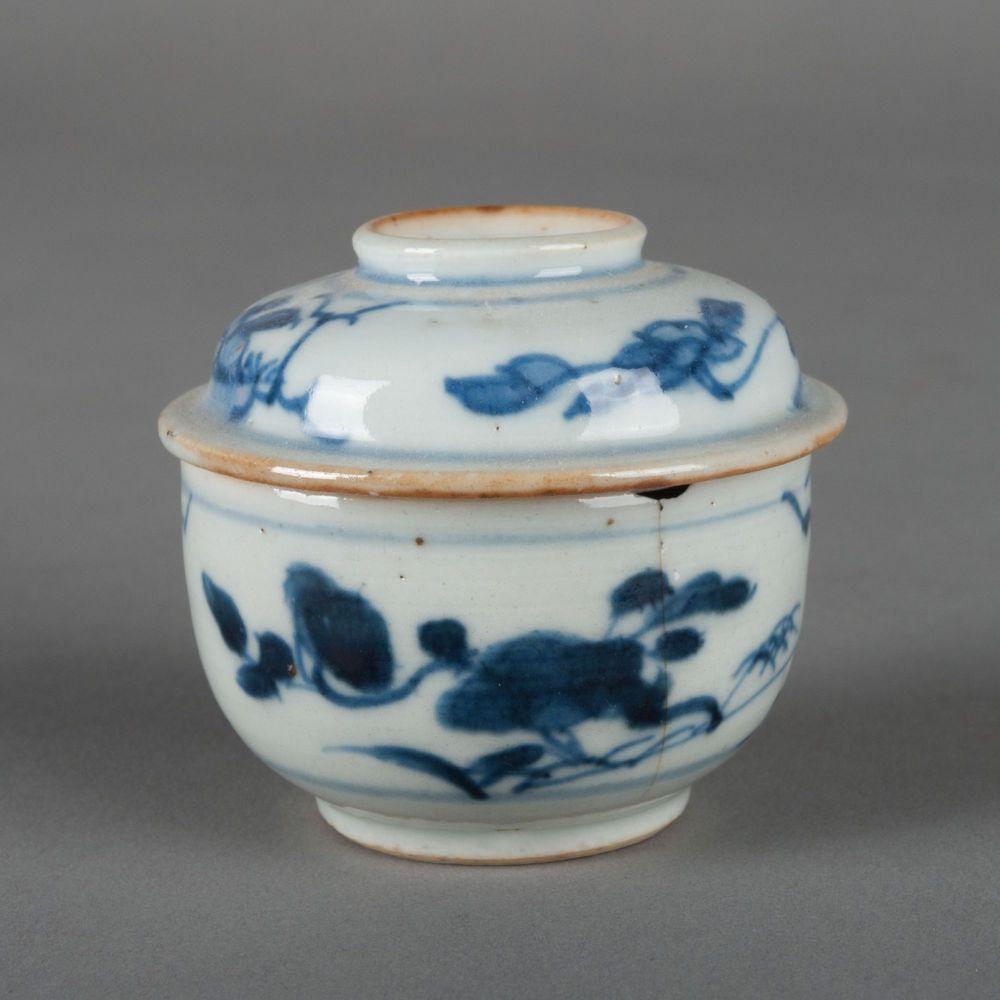 Chinese kandijpot met bloemdecor