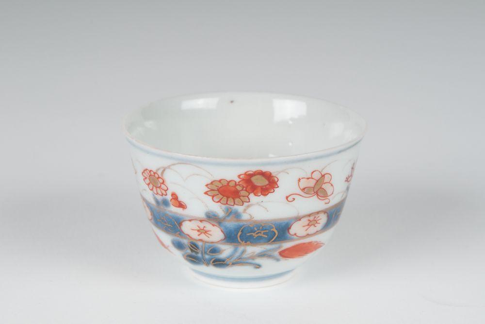 Japans imari kopje met bloemdecor