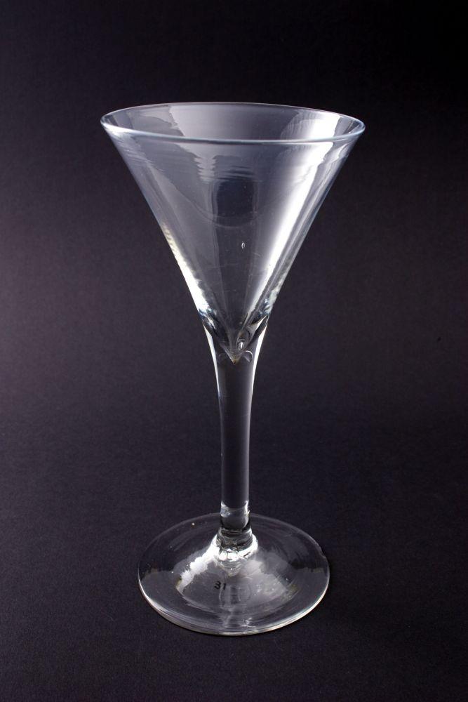 Wijnglas met pijpesteel