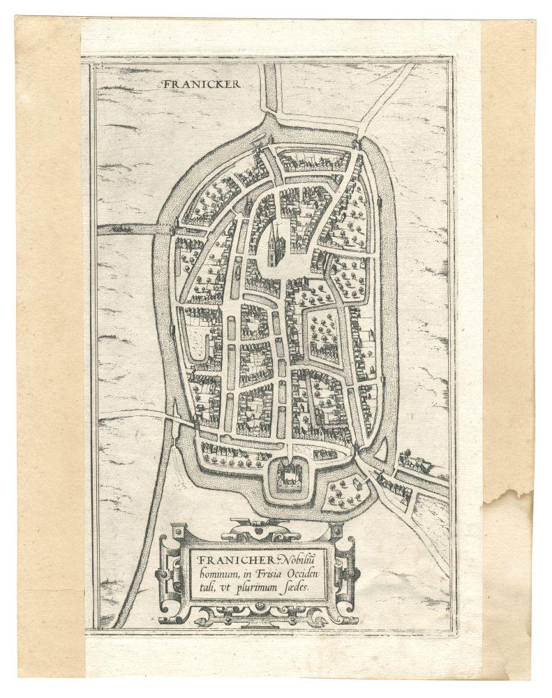 Plattegrond van Franeker door Braun en Hogenberg