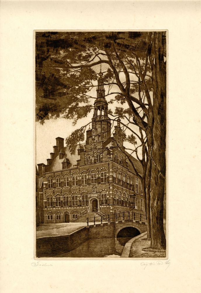 Ets van het stadhuis te Franeker