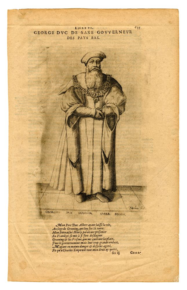 Gravure van de Hertog van Saksen