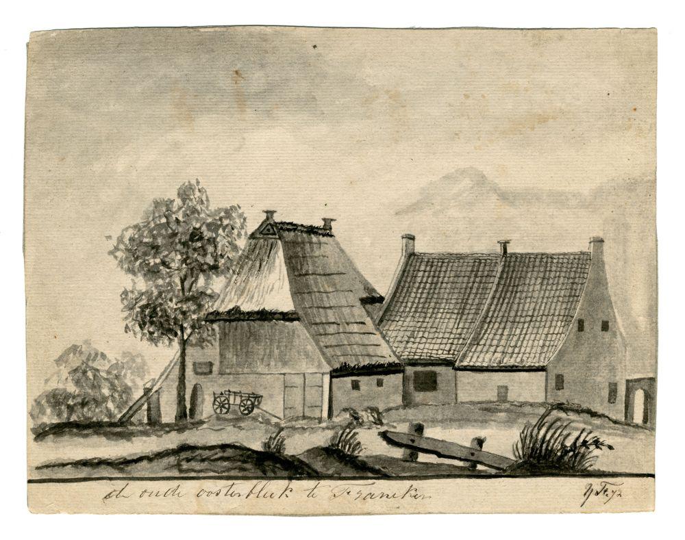 Tekening van de Oude Oosterbleek door Ynsen Faber