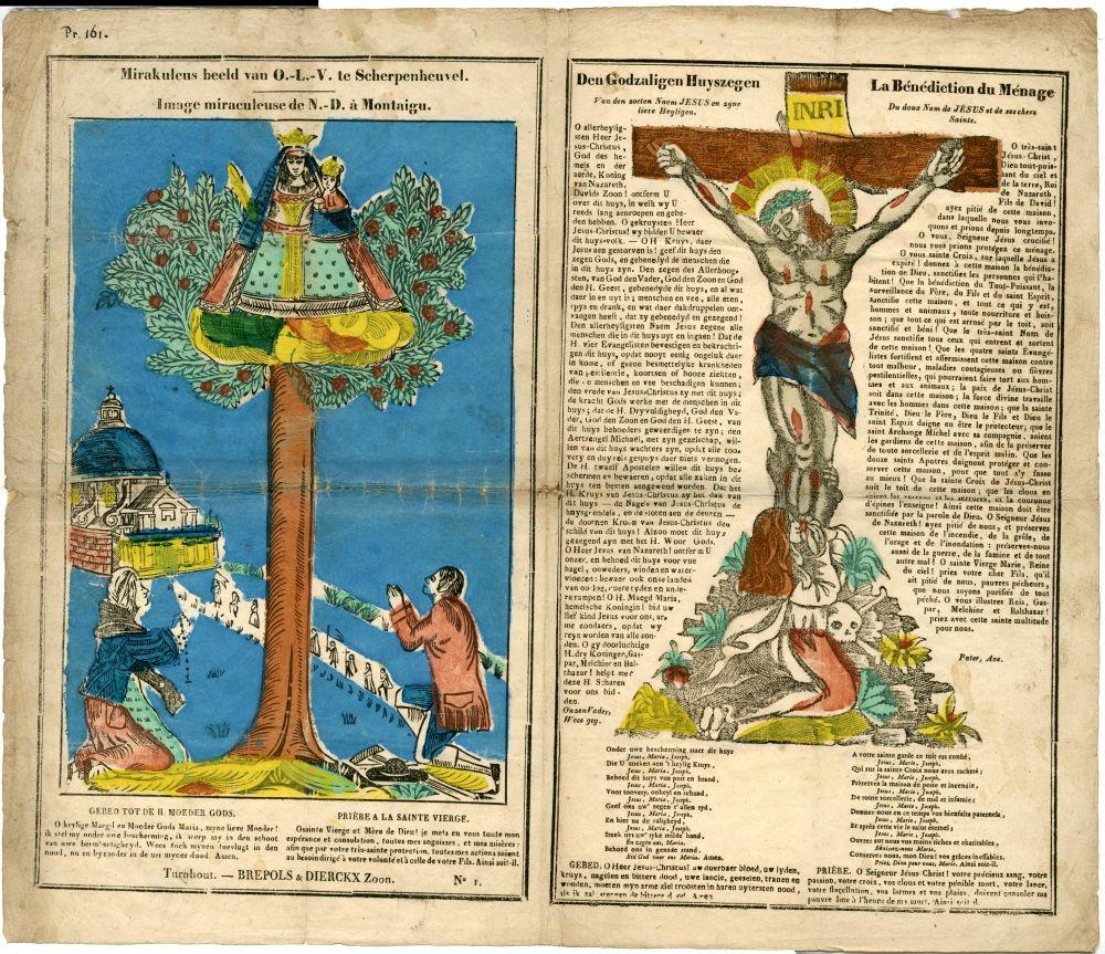 Centsprent met katholieke voorstellingen