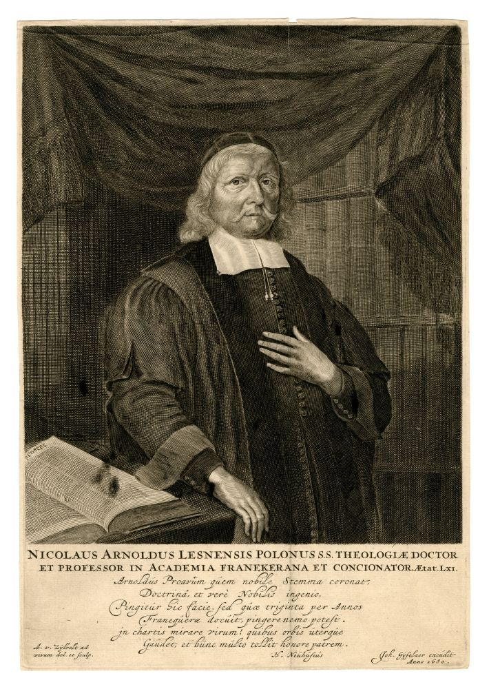 Portet van Nicolaus Arnoldus door A. van Zijlvelt