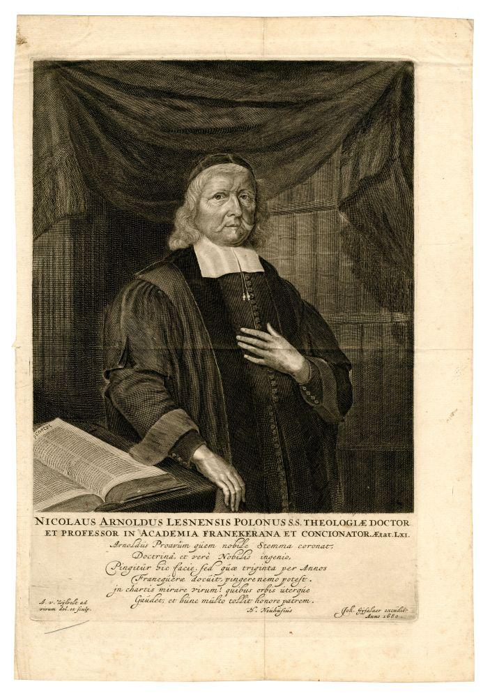 Portret van Nicolaus Arnoldus door A. van Zijlvelt