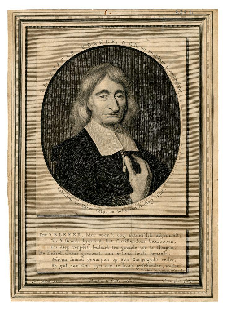 Portret van Balthazar Bekker door P. van Gunst