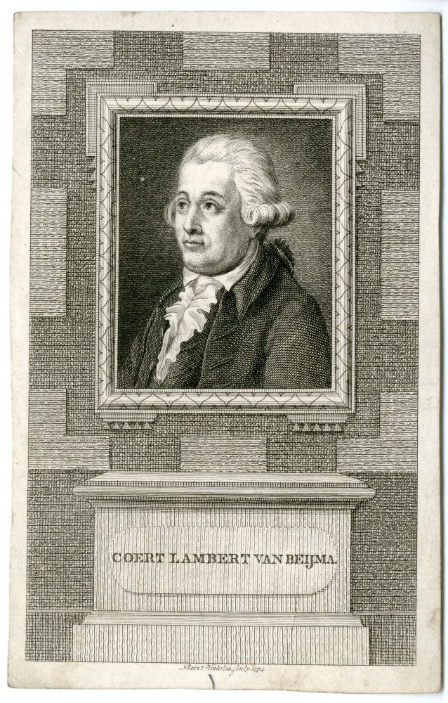 Portret van Coert Lambert van Beyma door Rein Vinkeles