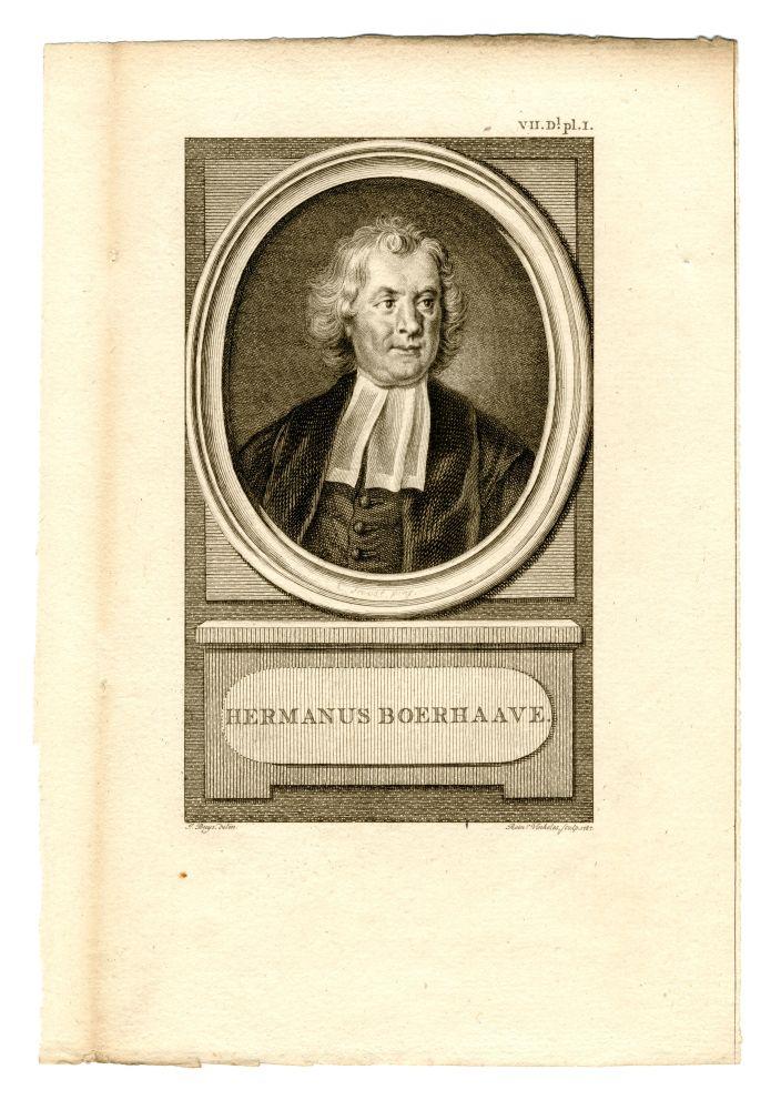 Portret van Hermanus Boerhave door Rein Vinkeles