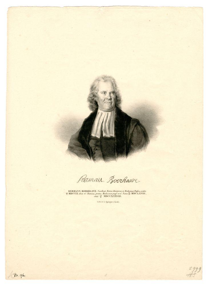 Portret van Hermanus Boerhave door L. Springer