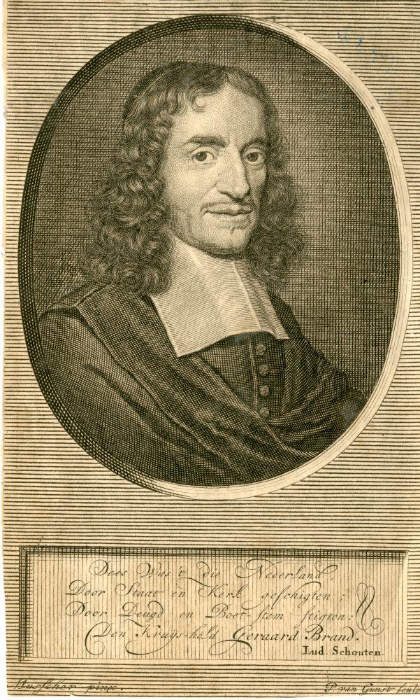 Portret van Geerardt Brandt door P. van Gunst