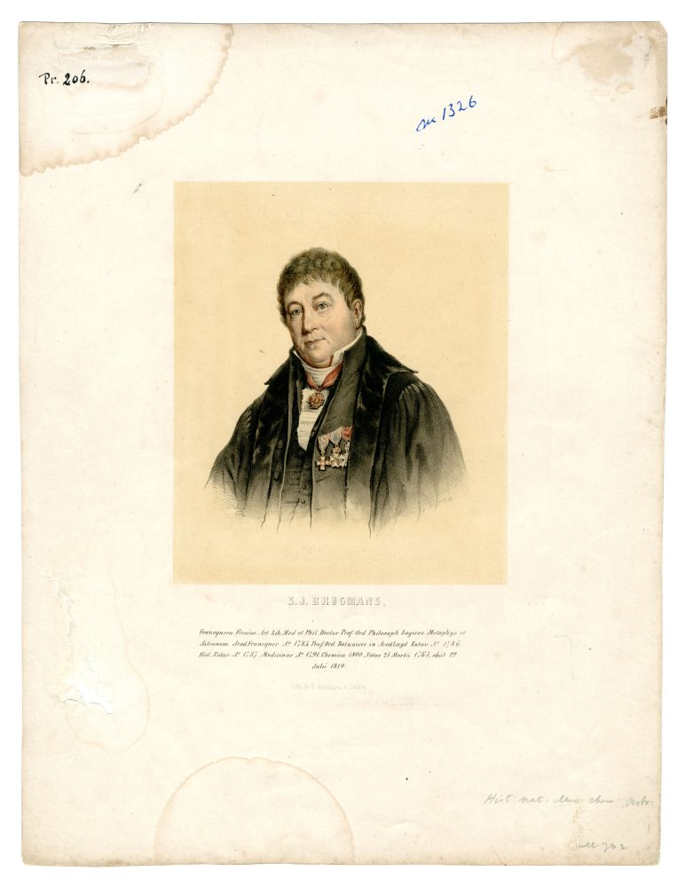 Portret van Sebald Justinus Brugmans door L. Springer