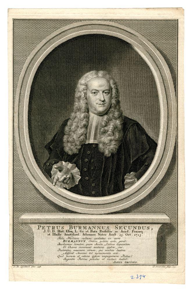 Portret van Petrus Burmannus Secundus door J.Houbraken