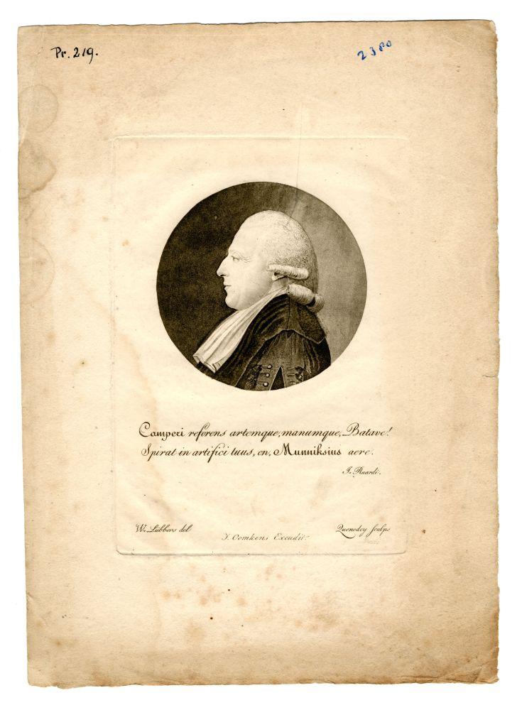 Portret van Petrus Camper door Zuendey
