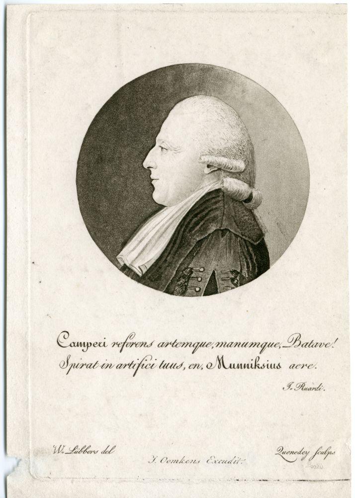 Portret van Petrus Camper door Zuendey en W.Lübbers