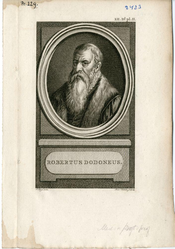 Portret van Robertus Dodoneus door Rein Vinkeles