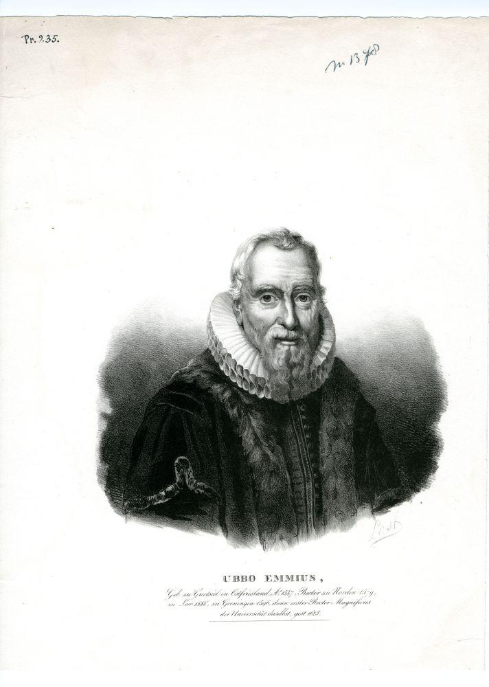 Portret van Ubbo Emmius door Last