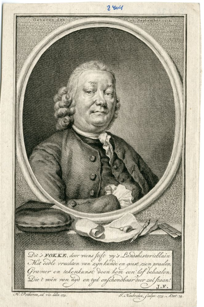 Portret van Fokke door J. Houbraken