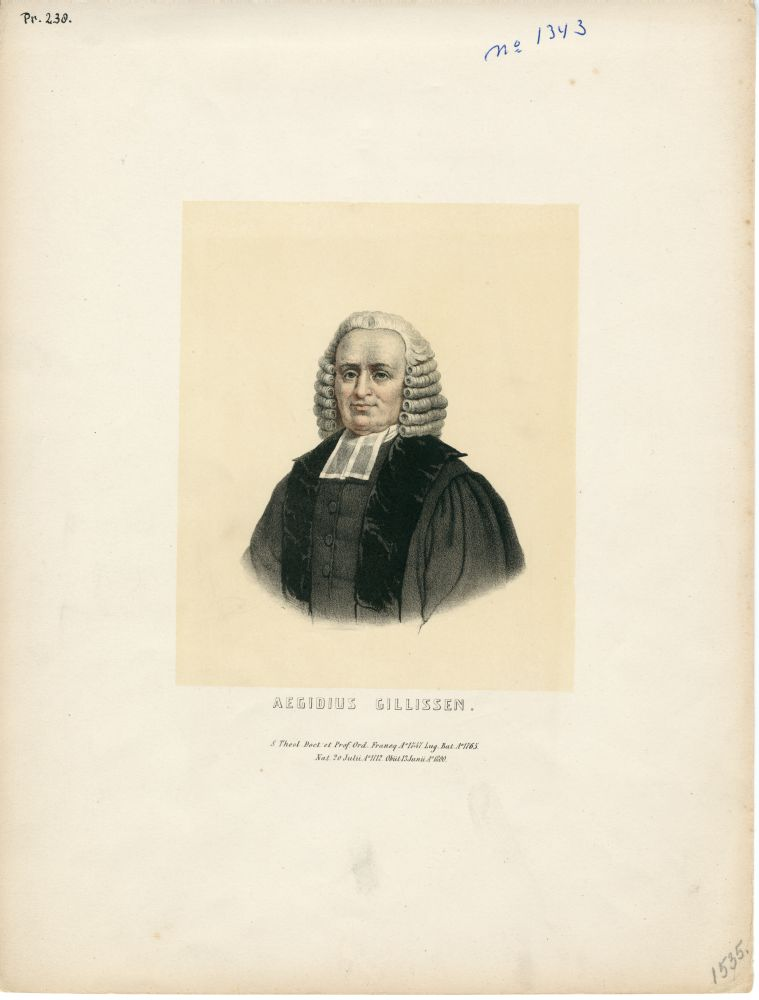 Portret van Aegidius Gillissen door L. Springer