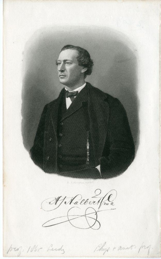 Portret van H.J. Halbertsma door D.J. Sluyter