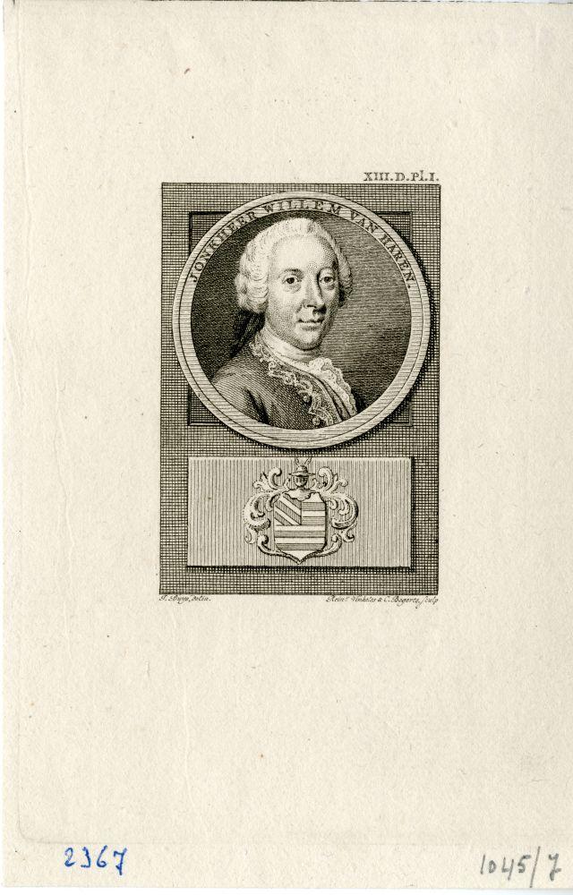 Portret van Willem van Haren door Rein Vinkeles