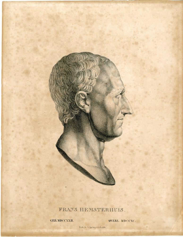 Portret van Frans Hemsterhuis door L. Springer