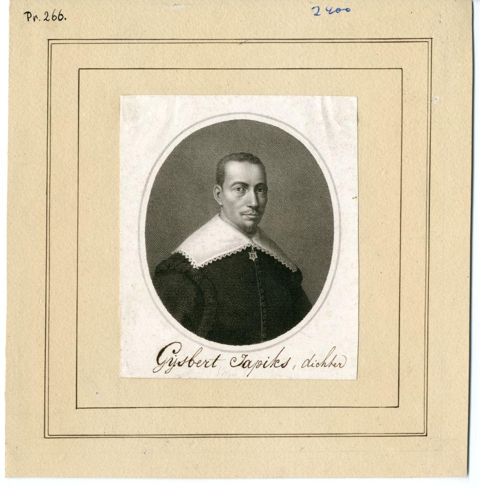 Portret van Gysbert Japicx door P. Velijn
