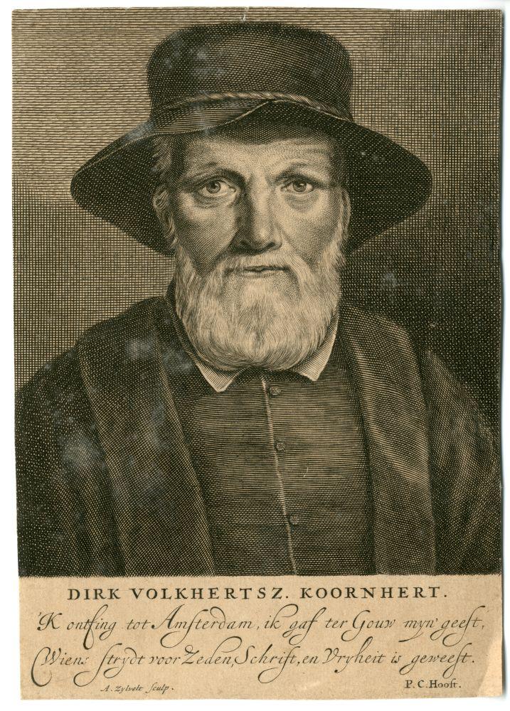 Portret van Dirk Volkertsz. Coornhert door A. van Zijlvelt