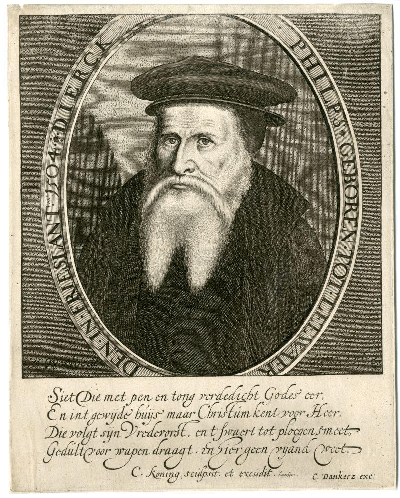Portret van Dierck Philps door C. Koning