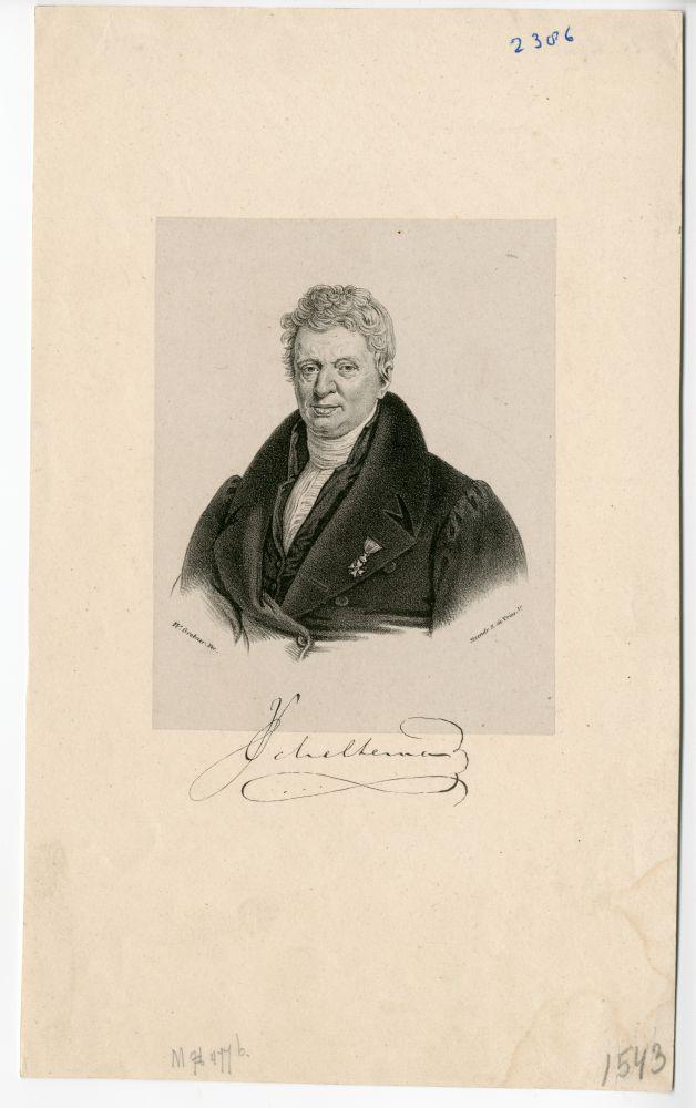 Portret van J. Scheltema door W. Grebner