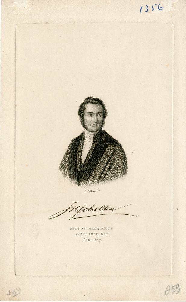 Portret van J.H. Scholten door D.J. Sluyter