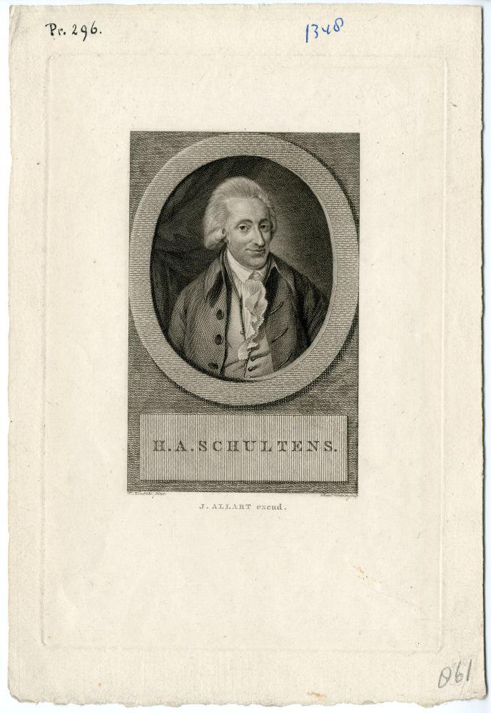 Portret van H. A. Schultens door Rein Vinkeles