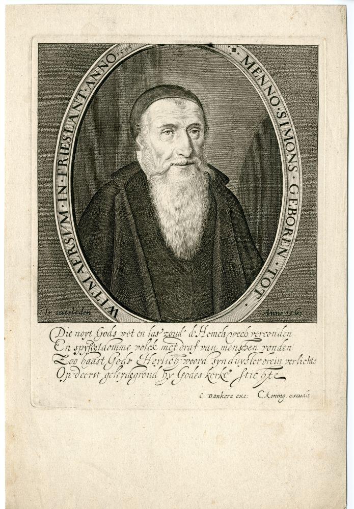 Portret van Menno Simons door C. Koning