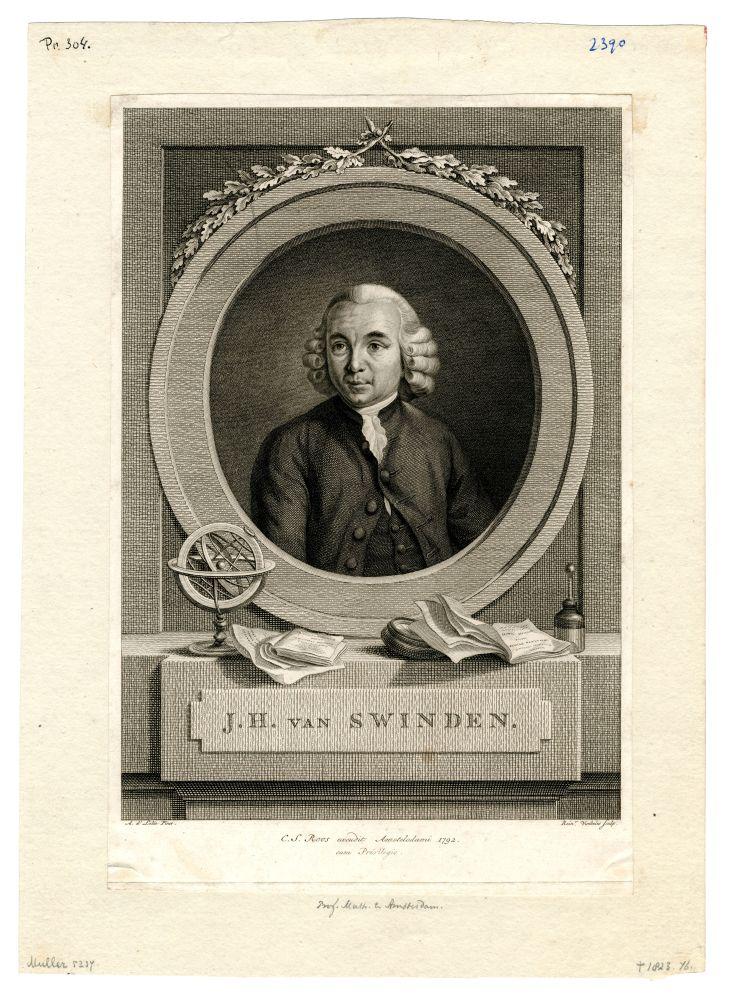 Portret van J.H. van Swinden door Rein Vinkeles