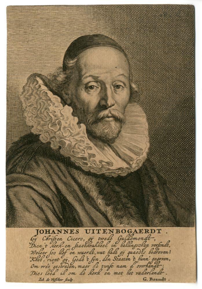 Portret van Johannes Uytenbogaerdt door Johannes de Visscher