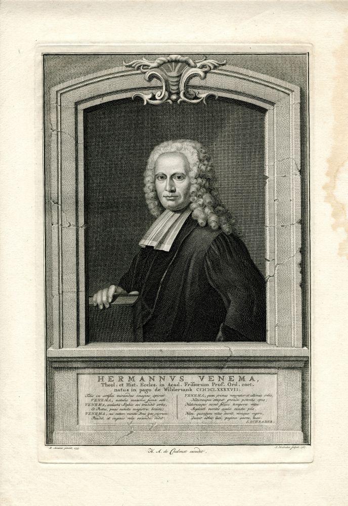 Portret van Hermannus Venema door J. Houbraken