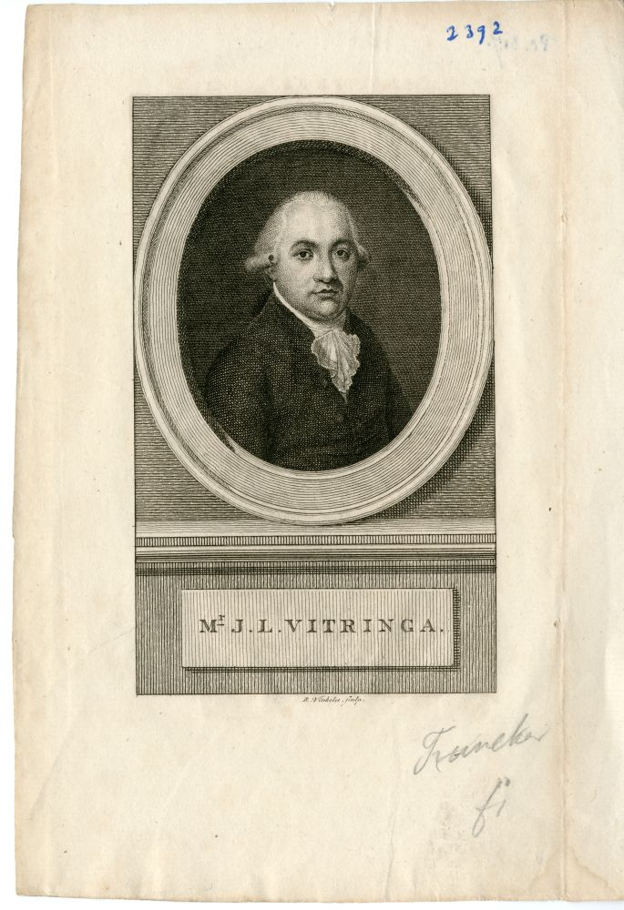 Portret van Mr. J.L. Vitringa door Rein Vinkeles