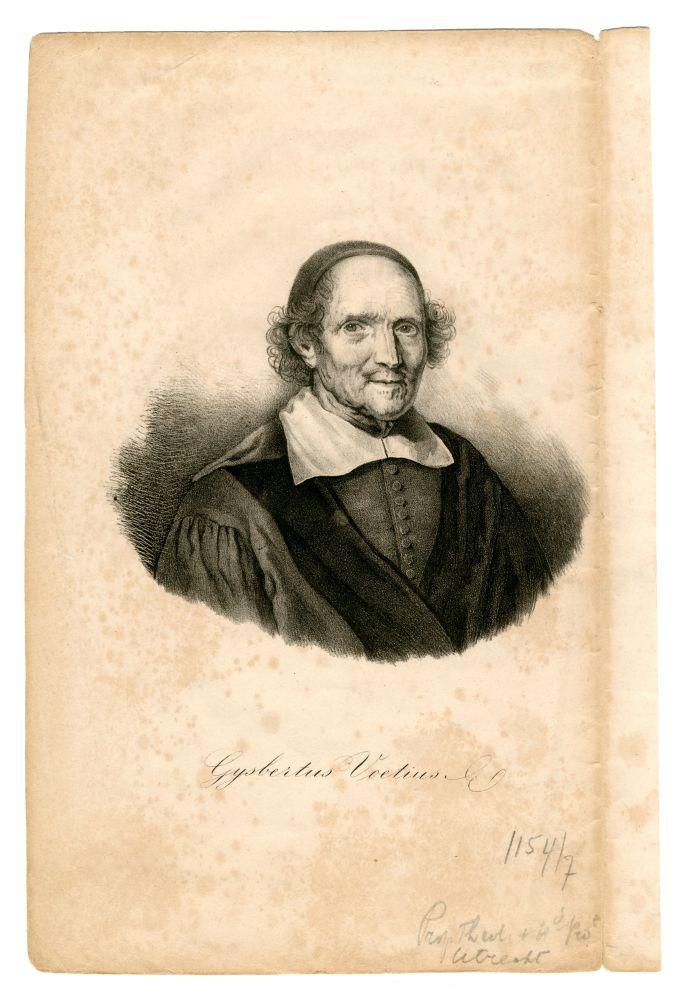 Lithografie van Gijsbertus Voetius