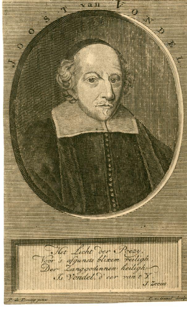 Gravure van Joost van den Vondel door P. van Gunst