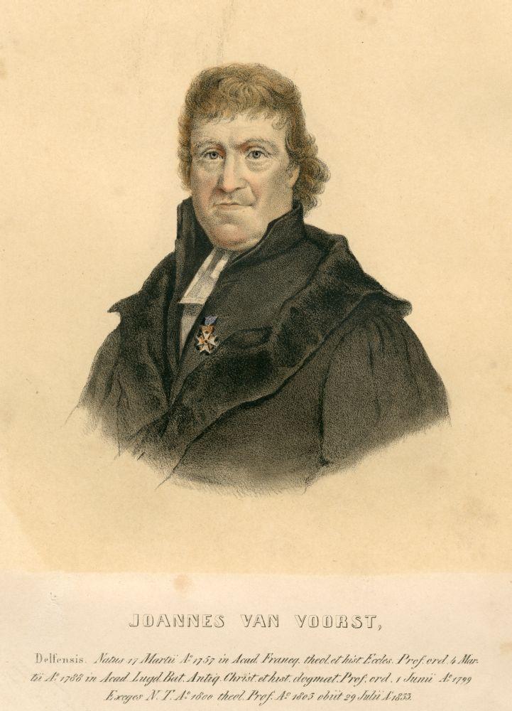 Lithografie van Johannes van Voorst