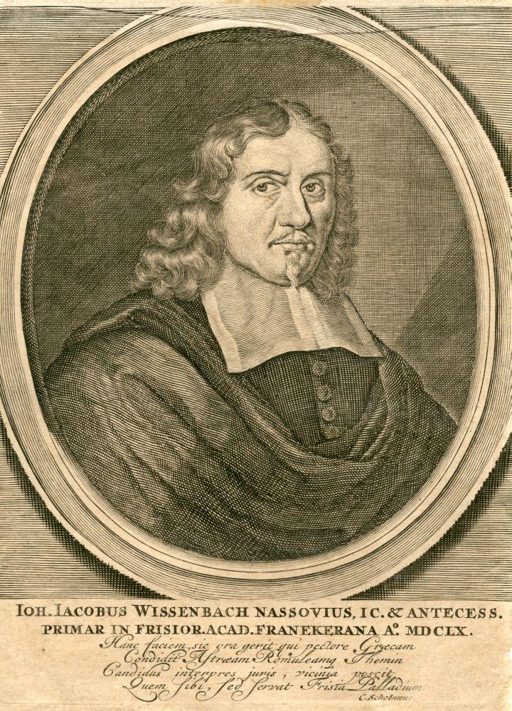 Gravure van een portret van Johannes Jacobus Wissenbach