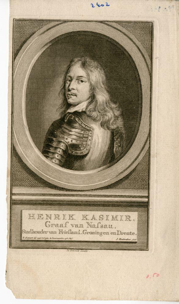 Gravure van Hendrik Casimir door J. Houbraken