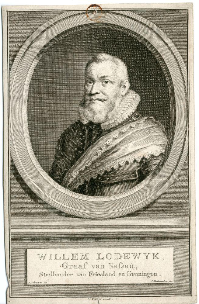 Gravure van Willem Lodewijk door J. Houbraken